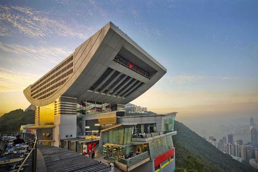 Peak Tower atop of Victoria Peak in Hong Kong.