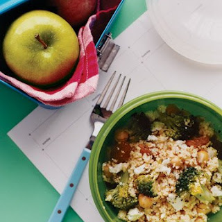 Couscous Salad with Broccoli and Raisins.