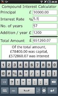 Compound Interest Calculator- screenshot thumbnail