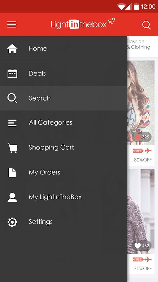 LightInTheBox Online Shopping - screenshot