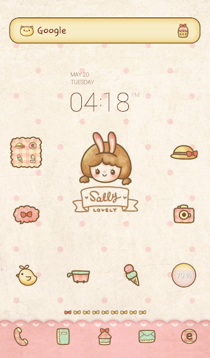 Lovely Sally sweet dodol theme