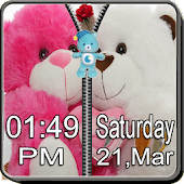 Teddy Bear Zipper Screen Lock