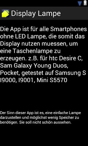 Display Lampe Taschenlampe