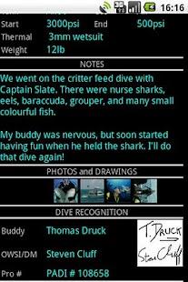 SCUBA Log- screenshot thumbnail