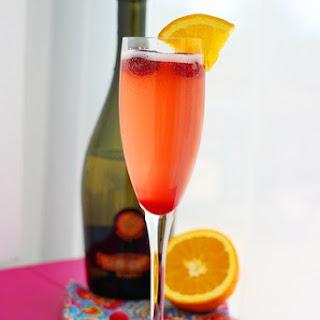 Cranberry-Orange Prosecco Cocktail.