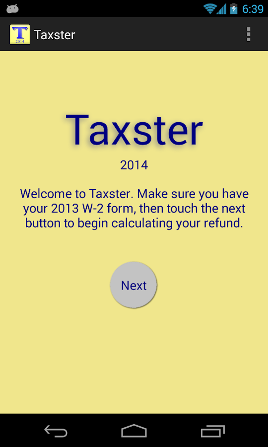 Taxster - screenshot