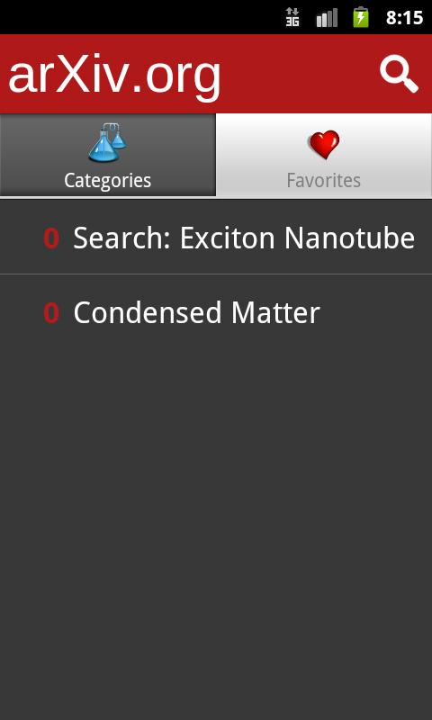 arXiv mobile - screenshot