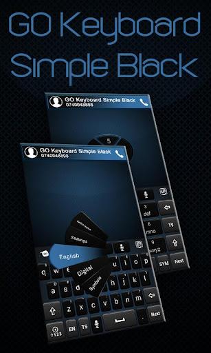 GO Keyboard Simple Black Theme