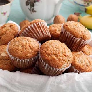 Gluten Free Banana Walnut Muffins.