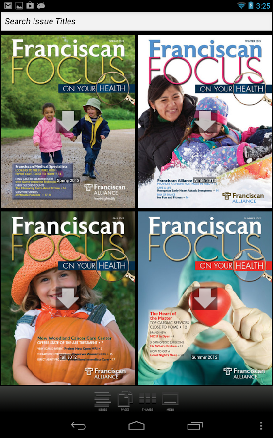 Franciscan Focus Magazine - screenshot
