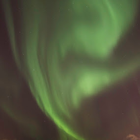 Aurora by the bay by Kristvin Guðmundsson - Landscapes Starscapes ( canon, night photo, iceland, night photography, reykjavik, green, aurora, aurora borealis, city lights, night, , Earth, Light, Landscapes, Views )