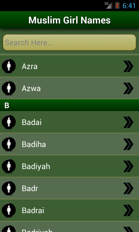 Islamic Baby Names Meanings Screenshot