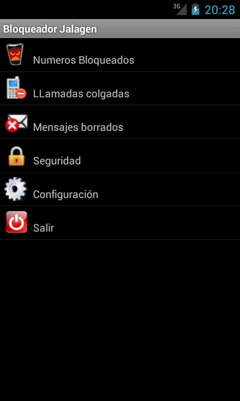 Bloqueador de llamadas Jalagen- screenshot