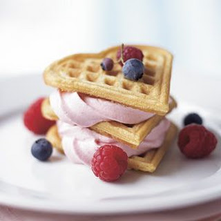 Waffle Napoleons with Raspberry Cream