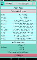 Screenshot of Color Capture & Identifier