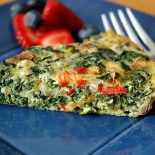 Easy spinach and Gruyere quiche.