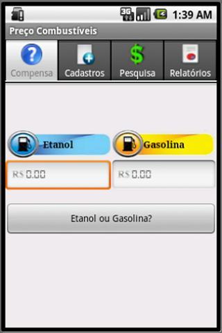 Preço dos Combustíveis- screenshot