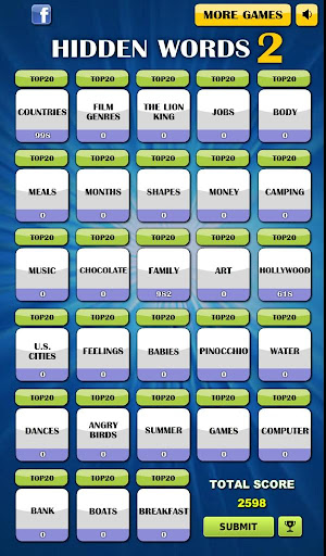 Hidden Words 2 - Free Puzzle