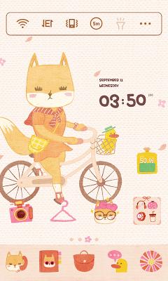Sweetie LINE Launcher theme - screenshot