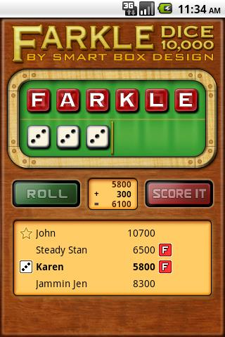 Farkle Dice - Free - screenshot