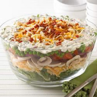 Layered Summer Salad from KRAFT® Shredded Cheese