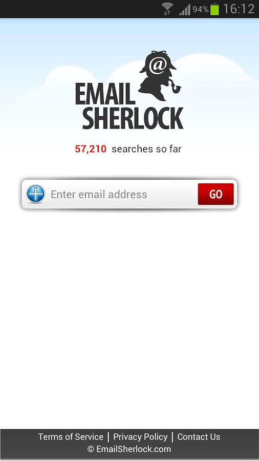 Email Search by EmailSherlock - screenshot