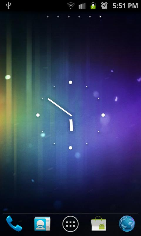 Nexus ICS Minimal Analog Clock - screenshot