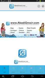 Abadi Grosir screenshot