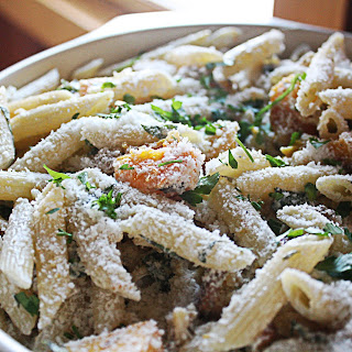 Penne With Butternut Squash And Goat Cheese.