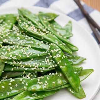 Quick Sesame Snow Peas.