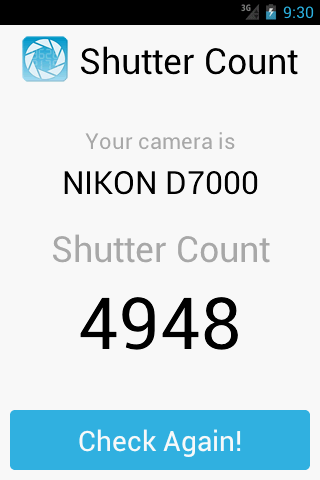 Shutter Count - screenshot