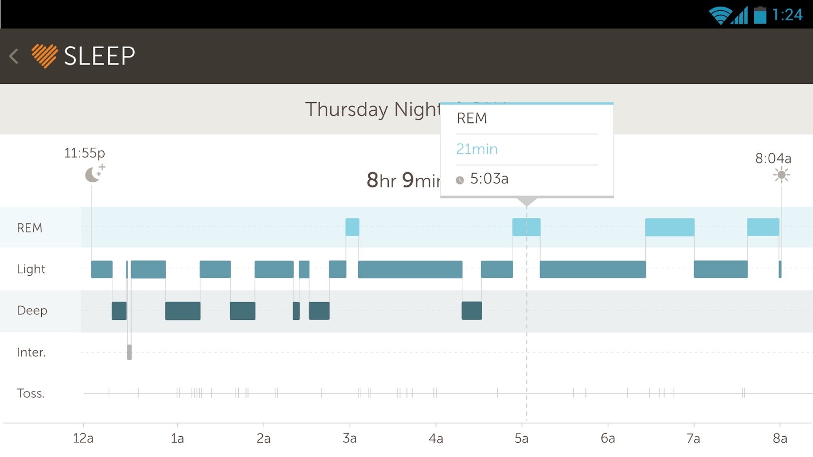 Basis Fitness & Sleep Tracker - screenshot