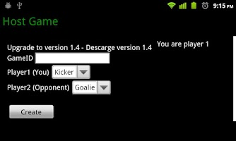 Screenshot of Soccer Penalties Online
