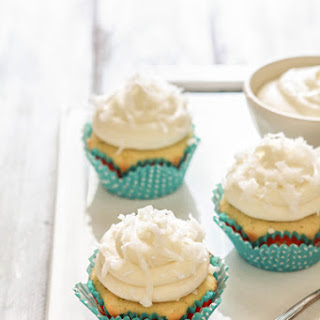 Coconut Lime Cupcakes with Coconut Lime Cream Cheese Frosting.