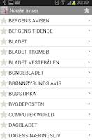 Screenshot of Norwegian newspapers