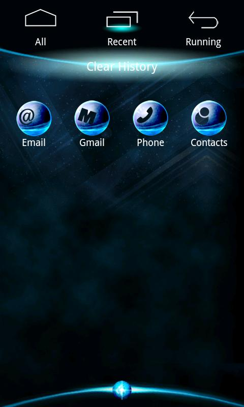 BlueZ Theme GO Launcher EX - screenshot