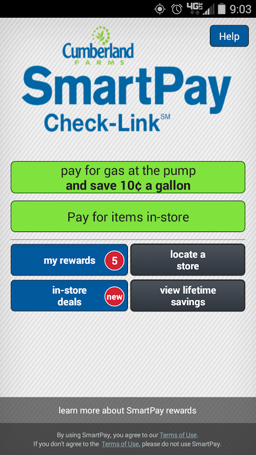 Cumberland Farms SmartPay- screenshot