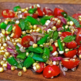 Amagansett Raw Corn, Tomato, and Snap Pea Salad