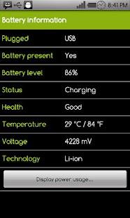 Battery Power Widget - screenshot thumbnail