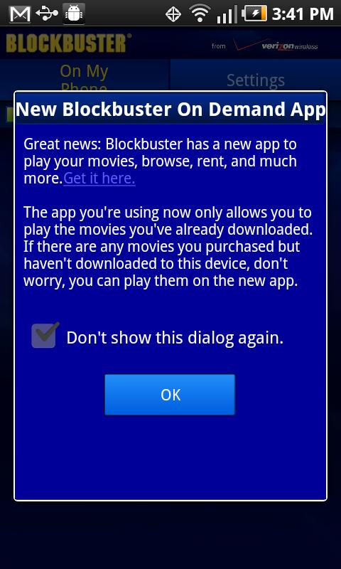 Blockbuster for HTC - screenshot