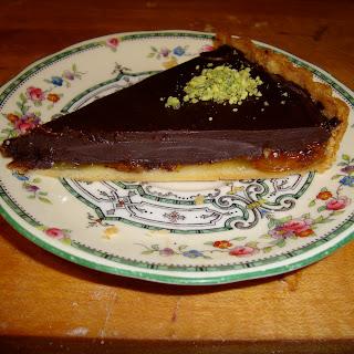 Dark Chocolate Tart with Kumquat Marmalade