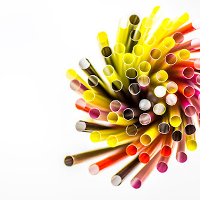 Straws by Lee Davison - Artistic Objects Cups, Plates & Utensils ( colour, bold, red, yellow, straws )