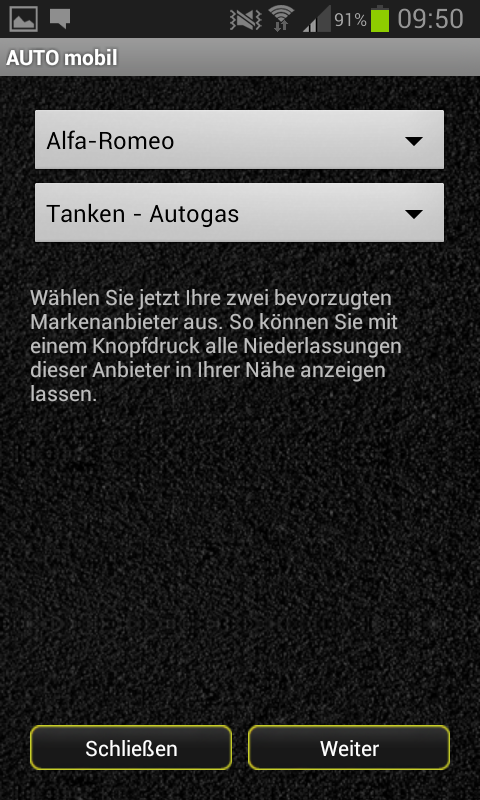 AUTO mobile - screenshot
