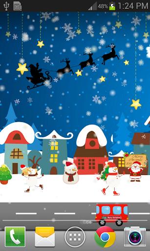 卡通聖誕城市動態桌布 FREE PRO