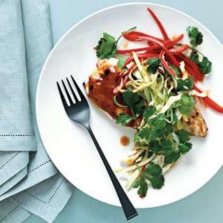 Hoisin-Glazed Chicken with Cabbage Slaw.
