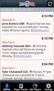 Fantasy Alarm Fantasy Baseball- screenshot thumbnail
