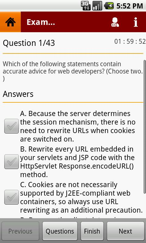 SCWCD EXAM - screenshot