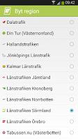 Screenshot of Länstrafiken Sörmland