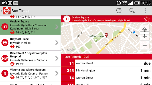 London Live Bus Countdown screenshot 2
