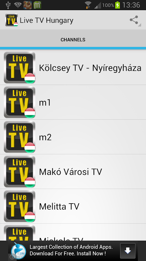 Live TV Hungary - screenshot